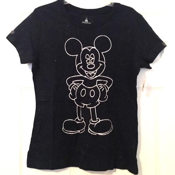 b262e3878 Disney Tops | Wtag Glitter Mickey Mouse Blue Tshirt Top | Poshmark